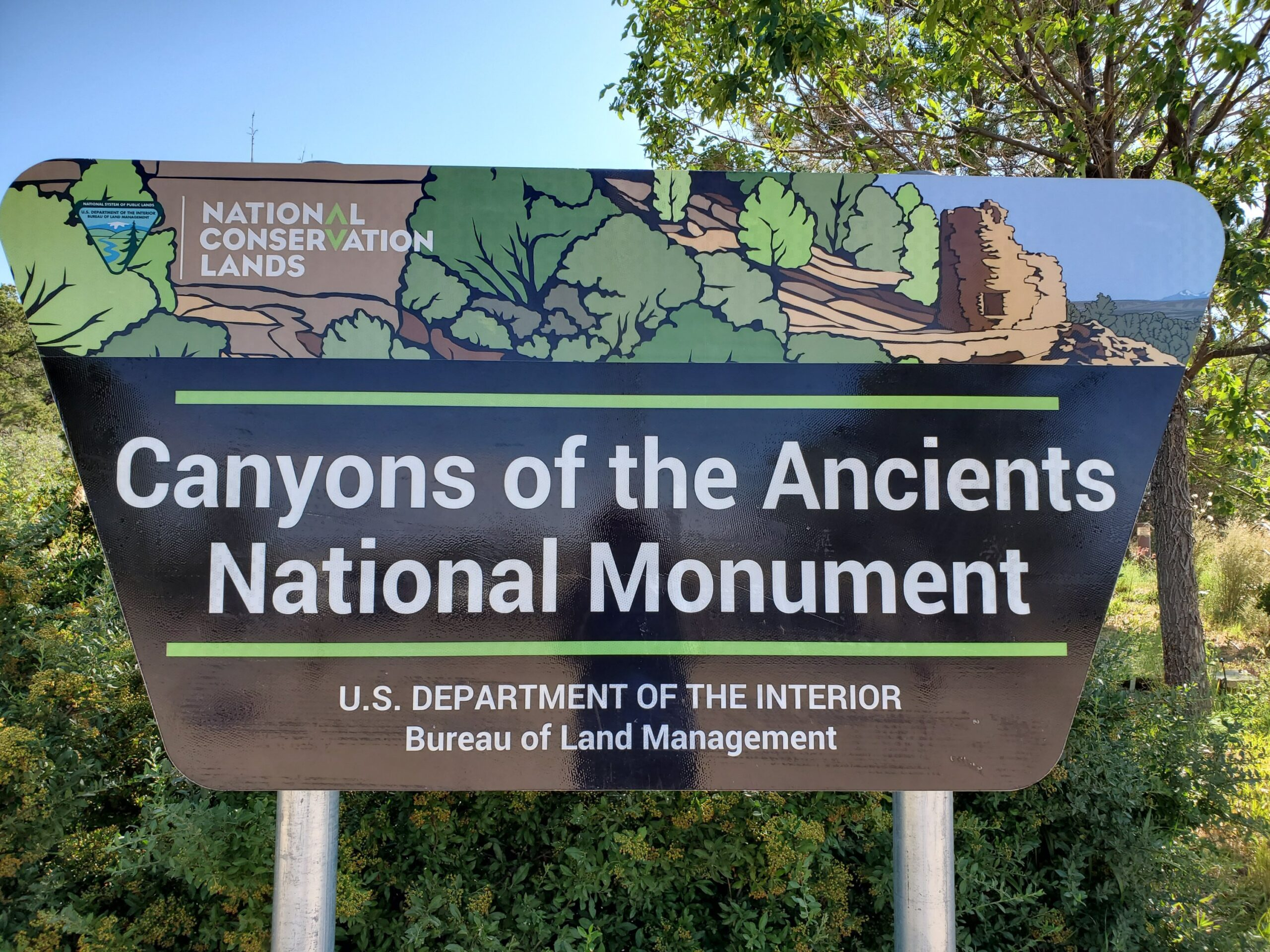 Canyons of the Ancients N.M. Sign