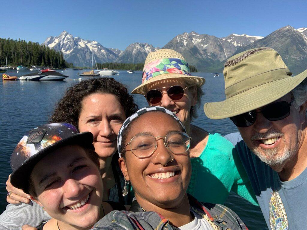 Family at Lake in Grand Teton NP