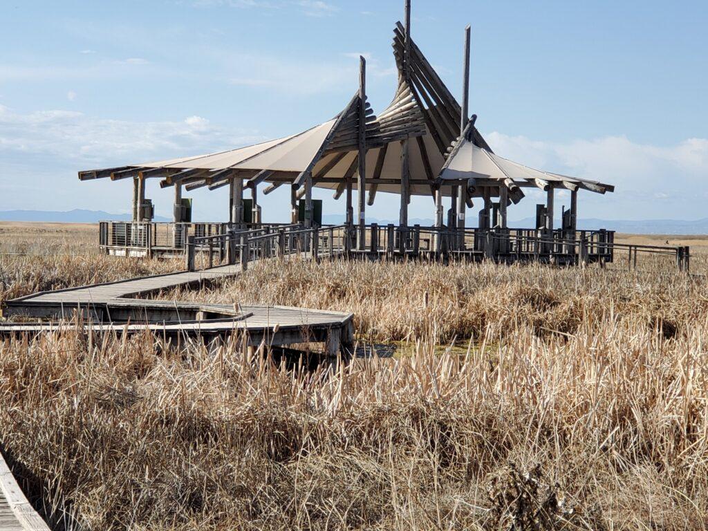 Visitor Center at GSL Shorelands Preserve